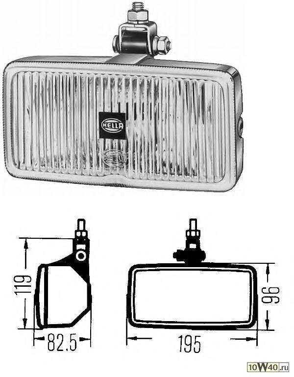 1ND 003 590-401 фара противотуманная  универсальная 12V/24V