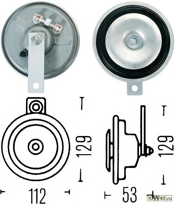 Звуковой сигнал двухтональный к-т высокий/низкий тон