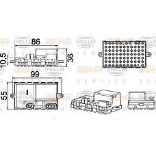 HELLA 5HL351321-211 (67326948422 / 67636988452 / 67326932438) резистор отопителя салона BMW (БМВ) e60 e63