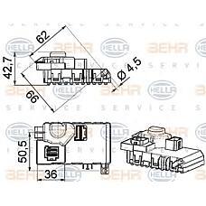 BEHR-HELLA 5HL351321-611 (A2218706758 / 2218200110 / 2218706758) резистор вентилятора