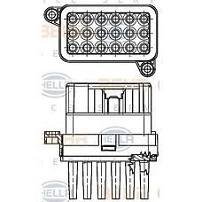 HELLA 5HL351332-341 (1433503 / 6G9T19E624AD / 6G9T19E624AE) сопротивление вентилятор салона - легковой автомобиль