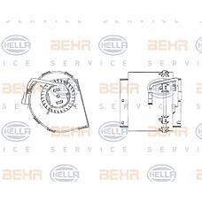 BEHR-HELLA 8EW009158-511 (0028303108 / A0028303108) электродвигатель вентилятора салона