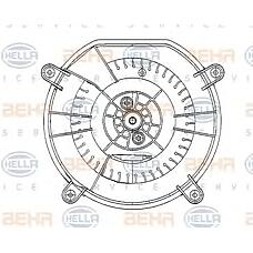 HELLA 8EW009159-601 (2118300408 / 2118300908 / A2118300408) вентилятор салона - легковой автомобиль - 12v