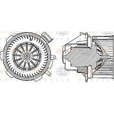HELLA 8ew351034-061 (0008356007 / A0008356007 / 8356007) мотор отопителя mb