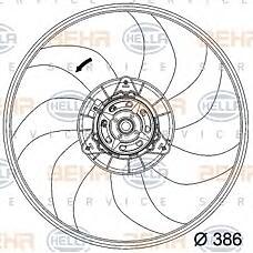 HELLA 8ew351034-281 (1341390 / 55702179 / 13263552) мотор отопителя Opel (Опель) Corsa (Корса) d / fiat