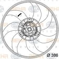 HELLA 8EW351034-291 (1341397 / 55702497) вентилятор охлаждение двигателя - легковой автомобиль - 12v