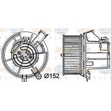 HELLA 8EW351040-301 (2048200208 / 2048200008 / A2048200208) вентилятор салона - легковой автомобиль - 12v