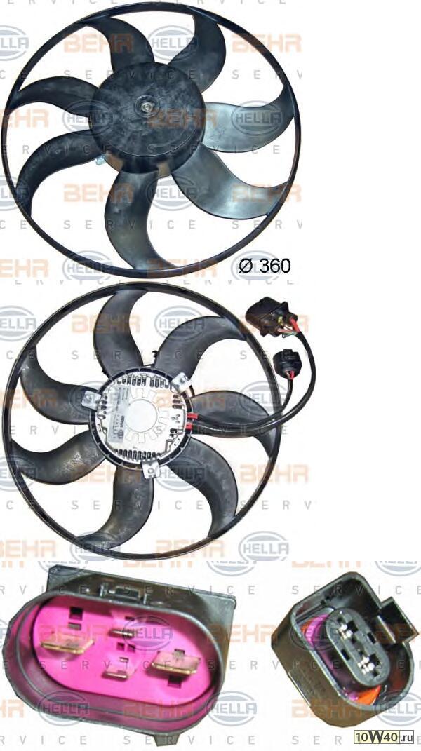 Вентилятор охлаждение двигателя - легковой автомобиль - 12V