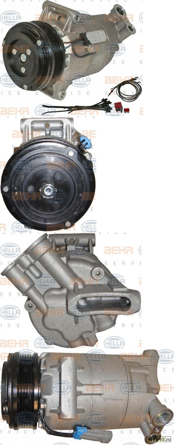 компрессор кондиционера opel / vauxhall astra h