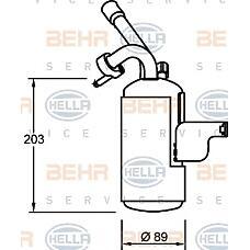 BEHR-HELLA 8FT351335-051 (4500864 / 2T1H19E647AH / 1365483) осушитель кондиционера