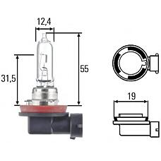 HELLA 8GH 008 357-001 (N10529601 / X825107044000 / 9247670) лампа (h9) 65w 12v pgj19-5 галогенная стандарт\