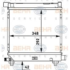 BEHR-HELLA 8MK376710-634 (2015000503 / 2015005703 / 2015003703) радиатор двигателя
