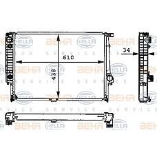 BEHR-HELLA 8MK376713-071 (17111709459 / 17111723467 / 1709459) радиатор двигателя