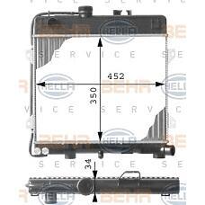 BEHR-HELLA 8MK376713-261 (17111151700 / 1151700 / 17111709336) радиатор двигателя
