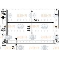 BEHR-HELLA 8MK376713-751 (6N0121253J) радиатор двигателя
