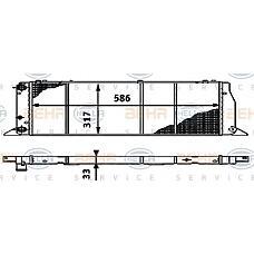 HELLA 8MK376714571 (893121253A / 811121253E / 811121253A) радиатор двигателя 8mk376714-571