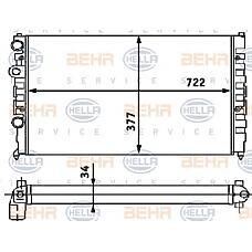 BEHR-HELLA 8MK376715-171 (3A0121253C / 3A0121253T / 3A0121253E) радиатор двигателя