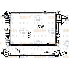 HELLA 8MK376715-731 (1300122 / 1300090 / 90442622) радиатор длина 538 mm