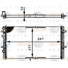 BEHR-HELLA 8MK376716-324 (6K0121253AG / 6K0121253BC / 6K0121253AM) радиатор двигателя