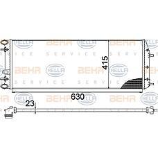 BEHR-HELLA 8MK376717-701 (6Q0121253Q / 6Q0121253R / 6Q0121253L) радиатор двигателя