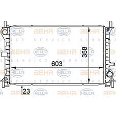 HELLA 8mk376720-291 (1061180 / 98AB8005DE / 1093711) радиатор охдаждения двигателя Ford (Форд) focus