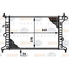HELLA 8MK 376 720-411 (90528302) радиатор системы охлаждения без ac\ Opel (Опель) vectra 1.6i-2.0i 95>