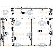 HELLA 8mk376754-071 (17117559273 / 17117521048 / 7559273) радиатор охлаждения двигателя BMW (БМВ) акпп