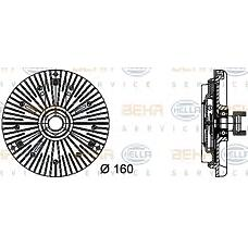 HELLA 8MV376732-041 (11522249216 / 2249216 / 115222492162249216) сцепление вентилятор радиатора - легковой автомобиль