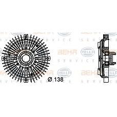 HELLA 8mv376732-231 (11521740962 / 11521723918 / 1740962) вискомуфта вентилятора радиатора BMW (БМВ) 3 (e30) / 5 / z1