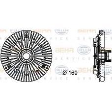 HELLA 8mv376733-001 (11527831619 / 7831619 / 115278316197831619) вискомуфта вентилятора радиатора BMW (БМВ) 3 (e36) / 5 / 7 / z3