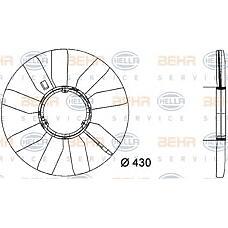 BEHR-HELLA 8MV376733-281 (1032000423 / A1032000423) крыльчатка вентилятора