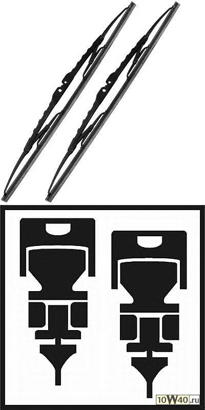 Щетка стеклоочистителя - легковой автомобиль