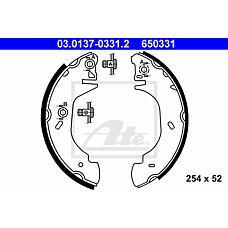 ATE 03-0137-0331-2 (7125122 / 1014316 / 94VB2200AB) Колодки тормозные зад.