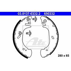 ATE 03-0137-0332-2 (7125123 / 1014317) Колодки тормозные зад.