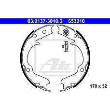 ATE 03.0137-3010.2 (26257AA030 / 26257AA050 / 26257AA040) колодки барабанные ручника\ Subaru (Субару) Impreza (Импреза) 2.0 00> / Legacy (Легаси) 2.0 98>