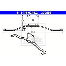 ATE 11.8116-0345.2 (30683271 / 4N512B486AA / 542536) пружина тормозного суппорта