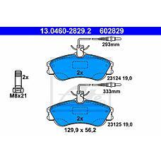 ATE 13.0460-2829.2 (425154 / 425155 / 425485) колодки дисковые п.\ Peugeot (Пежо) 306 / partner 1.1-2.0hdi 96>