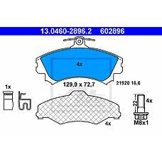 ATE 13.0460-2896.2 (MR977117 / 4544200920 / 4605A734) колодки дисковые п.\ smart forfour 1.1-1.5 03>