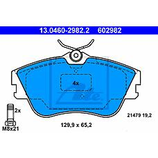 ATE 13.0460-2982.2 (701698151D / 701698151E / 701698151J) колодки дисковые п.\ VW t4 1.8-2.8 / 1.9td / 2.4d 90-95
