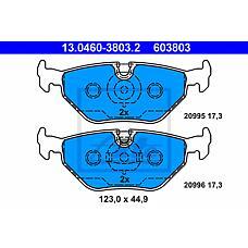 ATE 13.0460-3803.2 (34211161455 / 34211160340 / 34211160533) колодки дисковые з.\ BMW (БМВ) e36 1.6-2.5tds 90-98