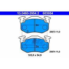 ATE 13.0460-3954.2 (425104 / 425071 / 425148) колодки дисковые задние\Citroen (Ситроен) Xsara (Ксара) 1.6-2.0 / 2.0hdi 97-05,Renault (Рено) Megane (Меган) 1.4-2.0 96>13.0460-3954.2_колодки дисковые задние\Citroen (Ситроен) Xsara (Ксара) 1.6-2.0 / 2.0hdi 9