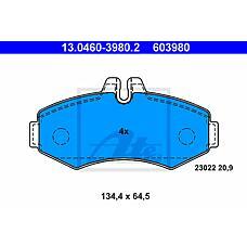 ATE 13.0460-3980.2 (0004214110 / 0034200120 / 0034205420) колодки дисковые п. \ mb Vito (Вито) 2.0i / 2.3i / 2.2cdi / 2.3d / cdi 98>