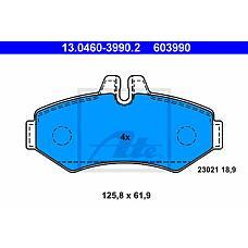 ATE 13.0460-3990.2 (2D0698451B / 0004209720 / 0034202420) колодки дисковые з. \ mb Sprinter (Спринтер) 208d / 308d 98>, VW lt 28 2.8tdi 96>