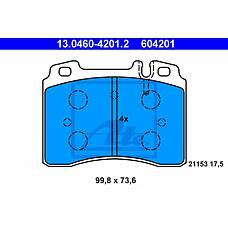 ATE 13.0460-4201.2 (0024201520 / 0024203720 / 0024201920) колодки тормозные дисковые
