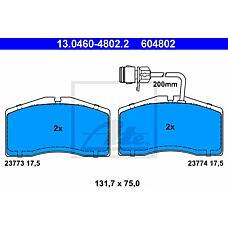 ATE 13.0460-4802.2 (4D0698151L / 4D0698151Q / 13046048022) колодки тормозные дисковые