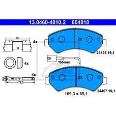 ATE 13.0460-4810.2 (77364318 / 77364015 / 77364319) колодки тормозные дисковые