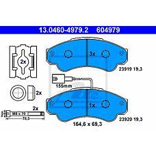 ATE 13.0460-4979.2 (425244 / 425245 / 9949517) колодки тормозные дисковые