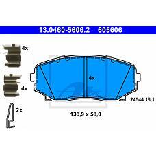 ATE 13.0460-5606.2 (L2Y63323Z / EHY23328Z / L2Y63328Z) колодки дисковые п.\ Mazda (Мазда) cx-7 mzr disi turbo 07>