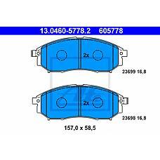 ATE 13.0460-5778.2 (41060CC090 / 41060EB325 / 410600023R) колодки тормозные дисковые