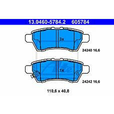 ATE 13.0460-5784.2 (44060EB325 / 44060EA090 / 44060EA091) колодки тормозные дисковые